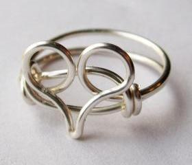 Silver Heart Ring Custom Size