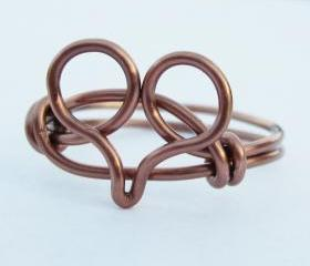 Antique Copper Heart Ring
