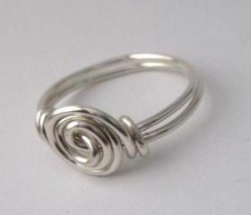 Silver Rosette Ring