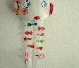 Vintage Doll Face Hair Clip Holder