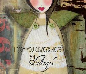 Angel by your SIDE 5x7 ART CARD print