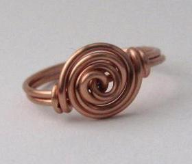 Copper Rosette Ring