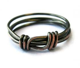 Unisex Ring Custom Size in Distressed Gunmetal Gothic - Stacking Ring