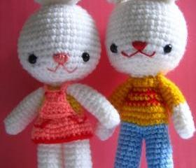 pdf charlie and angel bunny amigurumi crochet pattern-luulla
