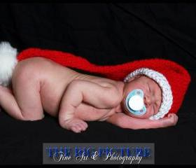 SALE Santa's Little Helper elf hat, newborn
