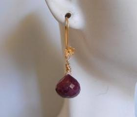 Onion briolette Ruby earrings