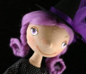 Cloth doll Little Witch
