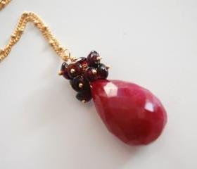 Beautiful Ruby and garnet necklace