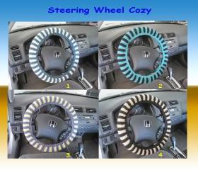 Knit Steering Wheel Cover, Wheel Cozy - Choose your own color (SWC2,3,4)