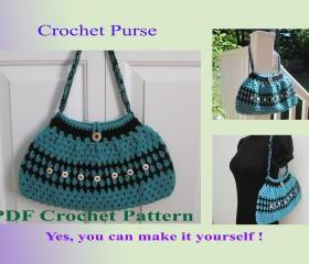 Crochet Pattern - Purse (13VC2012)