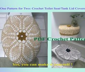 One Pattern for Two - Toilet Seat Cover & Toilet Tank Lid Cover (11VC2012)