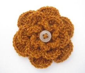 Crocheted flower brooch - 10 different colors (F1) - 3 for $12