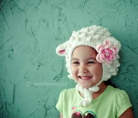 Little Lamb Hat For Her (Wool)