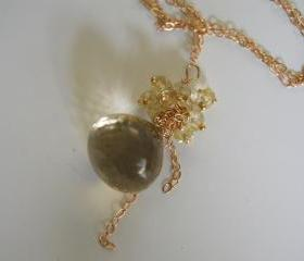 Gorgeous Lemon quartz onion briolette necklace
