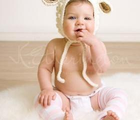 Little Lamb Hat For Him (Organic Wool in Cream)