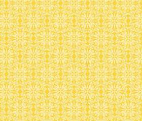 Sunny Happy Skies Fabric Yellow Lace Damask from Riley Blake Designs