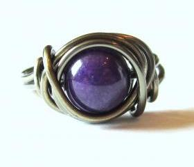 Purple Mountain Jade Ring