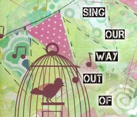 5 by 7 print birdcage singing