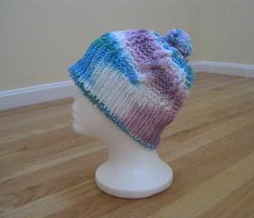 Knit Pompom Hat, Unisex - Mixed (h8)