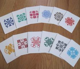 Note Cards On Sale, with printed papercut designs - Horoscope - set of 12 (CP9)