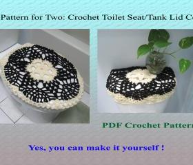 One Pattern for Two - Toilet Seat Cover & Toilet Tank Lid Cover (16VC2012)