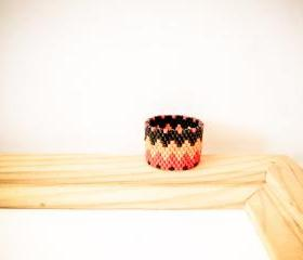 Southwest Native American band ring.Tribal geometric zig zag pattern. Custom ring