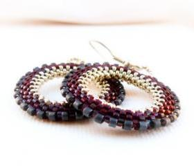 Cherry Silver Chic Wheel. January fashion jewelry. Hoop Earrings Street style. Birthday gift idea under 50