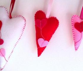 Home Hearts Decoration - Set of 3 - Flying Hearts - Ornaments/favors/decor
