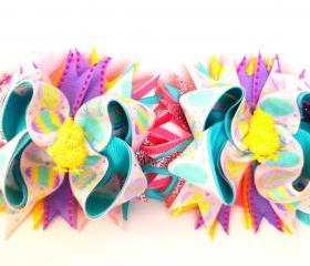 Glitzy Easter Pigtail Set