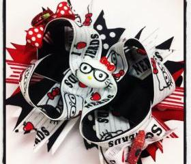 Hello Kitty 'I love Nerds' Boutique Style Hairbow