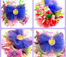 Frog Princess Over the Top Boutique Style Hairbow