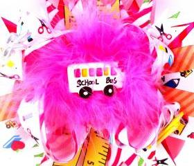 School Rocks Over the Top Boutique Style Hairbow