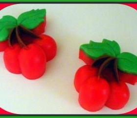 Cherries Soap - You Choose Scent - Party Favors, Showers, Birthdays - made with goat milk