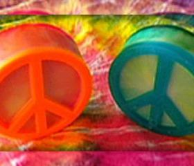 Peace Sign Soap - Tie Dye - Choose your colors and scent