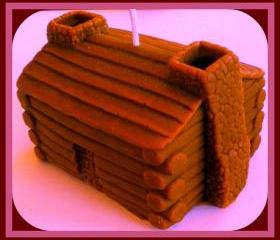 Soy Candle - Log Cabin - 3D - choose your scent