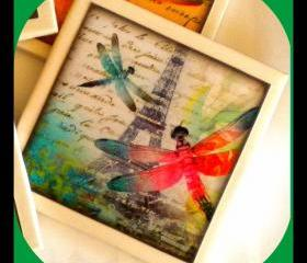 Coaster - Ceramic Tile - Dragonflies in Paris