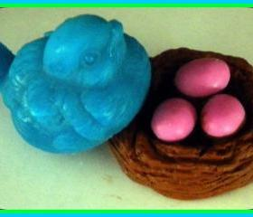 Soap - Bird's Nest with Eggs and Bird - Choose Colors and Scent