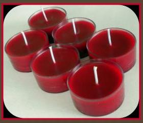Tealight Candles - Set of 6 - Pomegranate