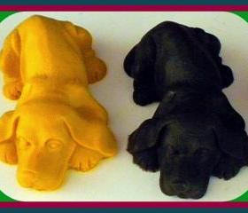 Soap - Puppy Dog Soap - Made With Goat Milk - Choose Your Scent and Color