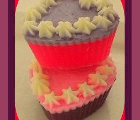 Soap - Mini Heart Cupcake Soaps (2) - Choose Your Scent