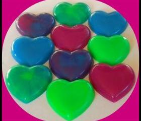Heart Soaps - 100 - You Choose Scents and Colors - Weddings, Party Favors, Bridal Showers