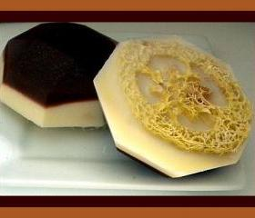 Loofah Soap - Mocha Latte Coffee Goat Milk Soap Exfoliator