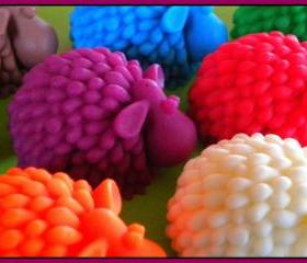 Soap - Sheep Soap - 3D - made with goat's milk - choose your scent and color - Baby Showers, Party Favors