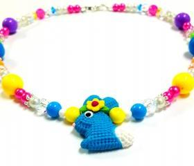 Bright Colored Easter Bunny Necklace