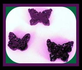 Air Freshener Aroma Bead Melts - Butterflies - Set of 3 - Black Raspberry Vanilla Scented