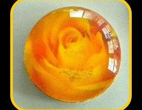 Magnet - Yellow Rose - Meaning &quot;Friendship and New Beginnings&quot; - 1 Inch Glass Circle - Valentine's Day