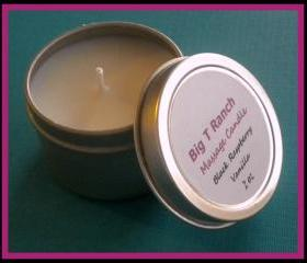 Candle - NEW - Mini Black Raspberry Vanilla Soy Massage Candle - 2 oz