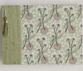 Wedding Guest Book - Liberty Tana Lawn - Umbels and Florals - 8&quot; x 6&quot; - Ready to Ship