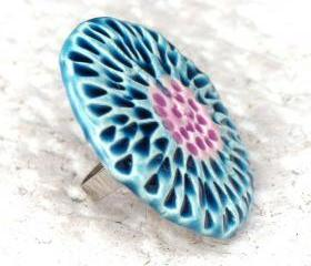 Blue and lavender ring Spring collection