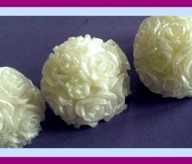 Soap - Rose Flower Soaps - Made with Goat's Milk - Set of 3 - Weddings, Winter Decorations, Party Favors, Table Decorations